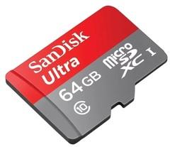 Карта памяти SanDisk microSDHC 64Gb UHS-I Ultra Class10 (48MB)