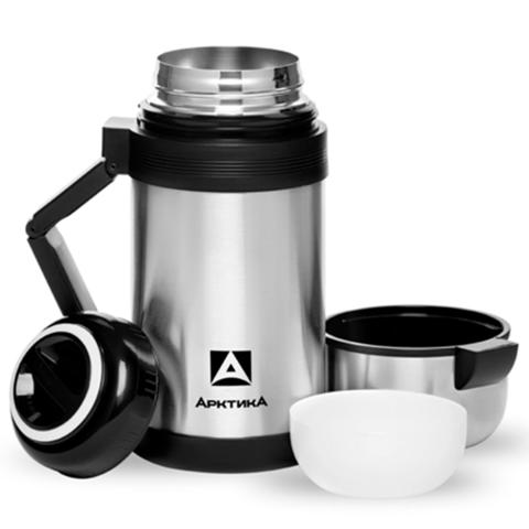 Термос универсальный (для еды и напитков) Арктика (1 литр) с широким горлом, стальной