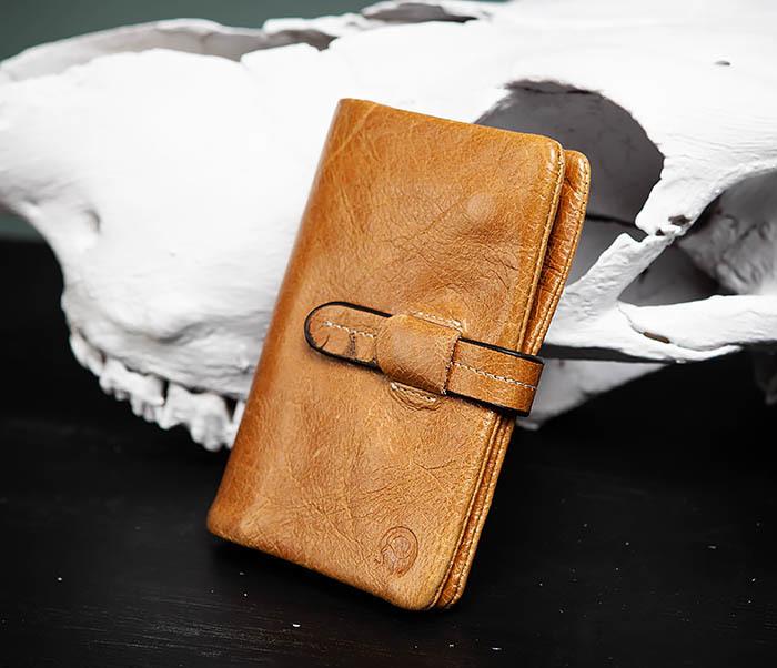 WL245-3 Мужское портмоне из натуральной кожи с ключницей, помещается техпаспорт фото 02