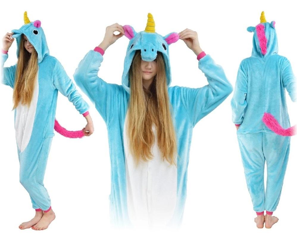 Комбинезон Единорог кигуруми голубой