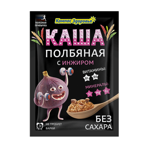 """Каша """"Компас здоровья"""" полбяная с инжиром 30г"""