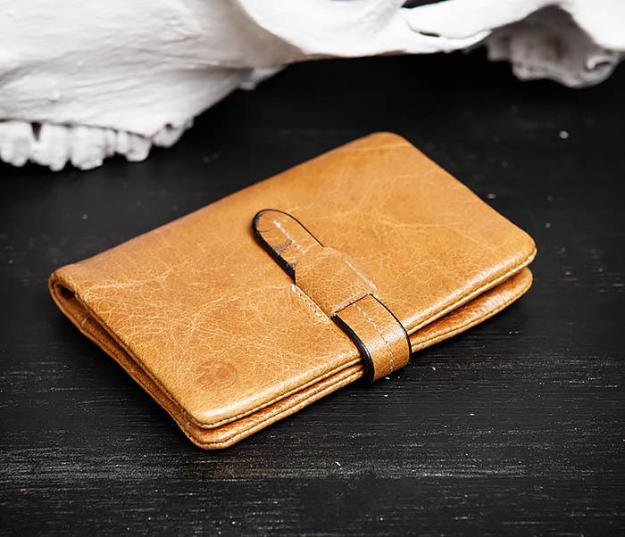 WL245-3 Мужское портмоне из натуральной кожи с ключницей, помещается техпаспорт фото 03