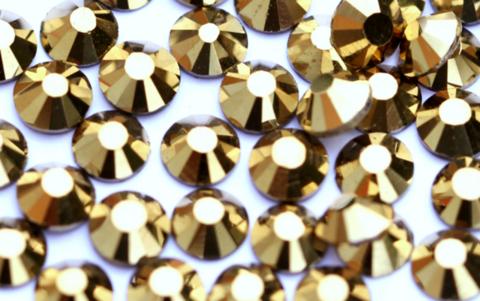 Стразы SS6 золото 100 шт