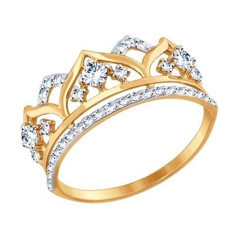 017416 -Кольцо из золота с фианитами