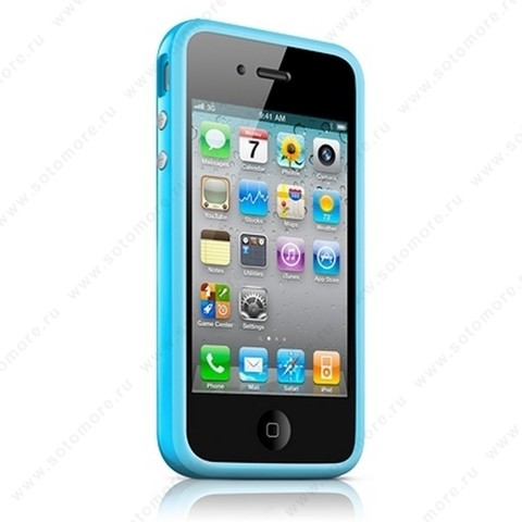 Бампер Apple для Apple iPhone 4s/ 4 Bumper - Blue