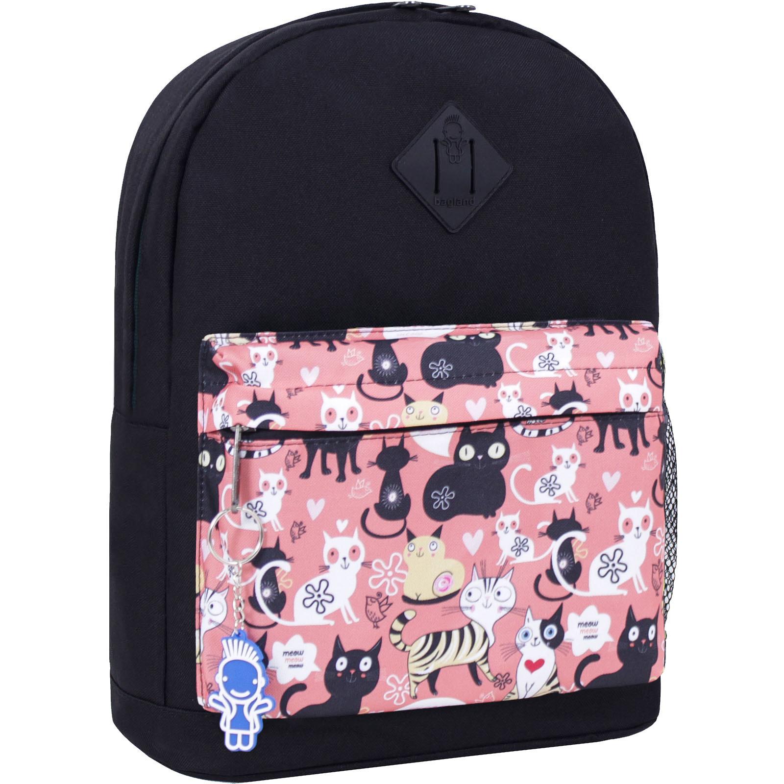 Городские рюкзаки Рюкзак Bagland Молодежный W/R 17 л. черный 447 (00533662) IMG_2585_447_-1600.jpg