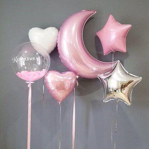 Композиция из шаров Розовая ночь