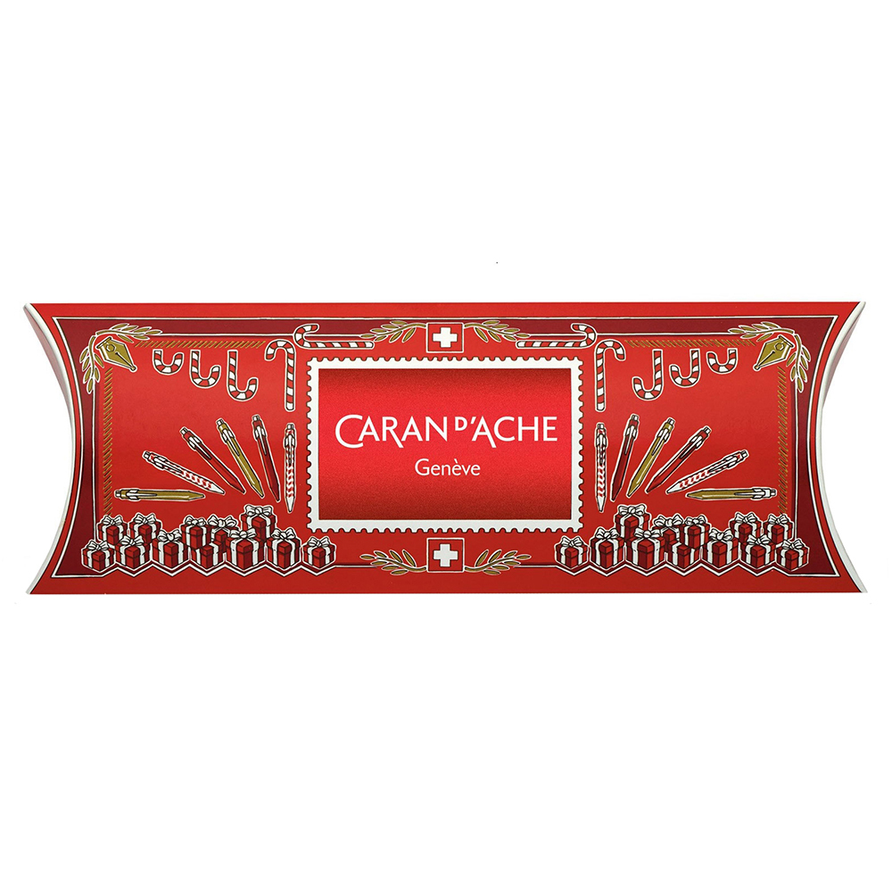 Carandache Office 849 Classic Seasons Greetings - Red, перьевая ручка, M, подарочная упаковка
