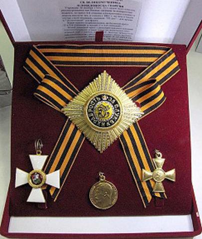 Орденский набор св. Георгия в футляре, копии
