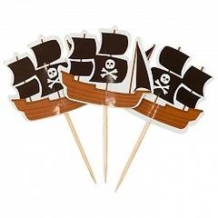 Пики для канапе Пиратский корабль 20шт