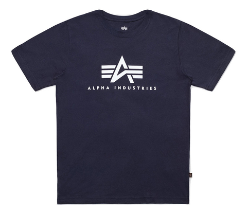 Футболка Alpha Industries Basic Logo Rep. Blue (Синяя)