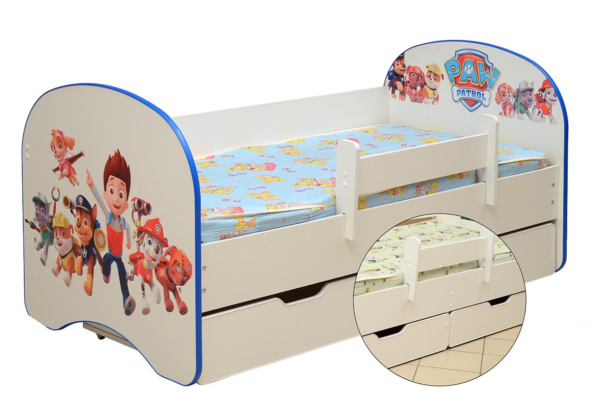 Кровать детская с фотопечатью Щенячий патруль