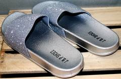 Шлепанцы на лето J.B.P. Shoes Nu1213 Silver.