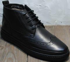 Теплые ботинки на зиму мужские Rifellini Rovigo C8208 Black