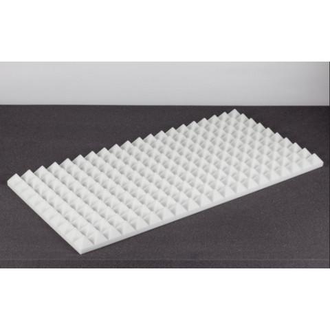 негорючая  акустическая панель  Пирамида ECHOTON FIREPROOF 100x50x5cm  из материала  BASOTECT белый