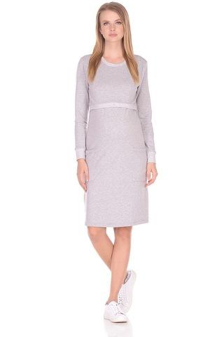 Платье для беременных и кормящих 09967 светло-серый