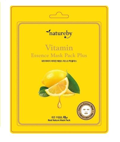 Natureby Тканевая маска для лица с витаминном С New 23г