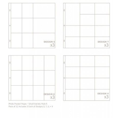 Набор фотофайлов Project Life- Small pack 5 - 12 шт