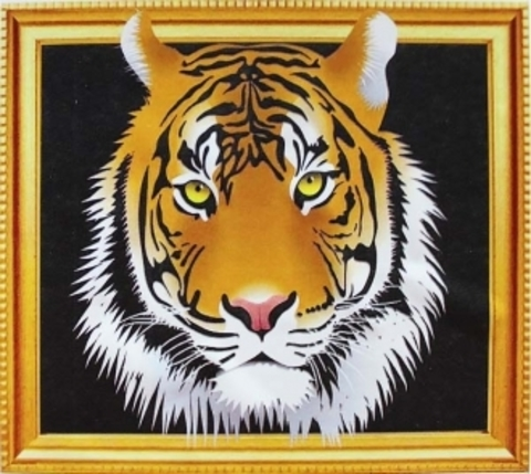 Алмазная Мозаика 5D 40x50 Тигр на черном фоне (арт.LTH0644)