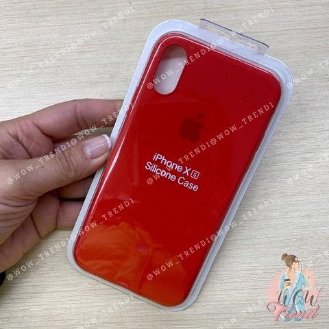 Чехол iPhone X/XS Silicone Slim Case /red/