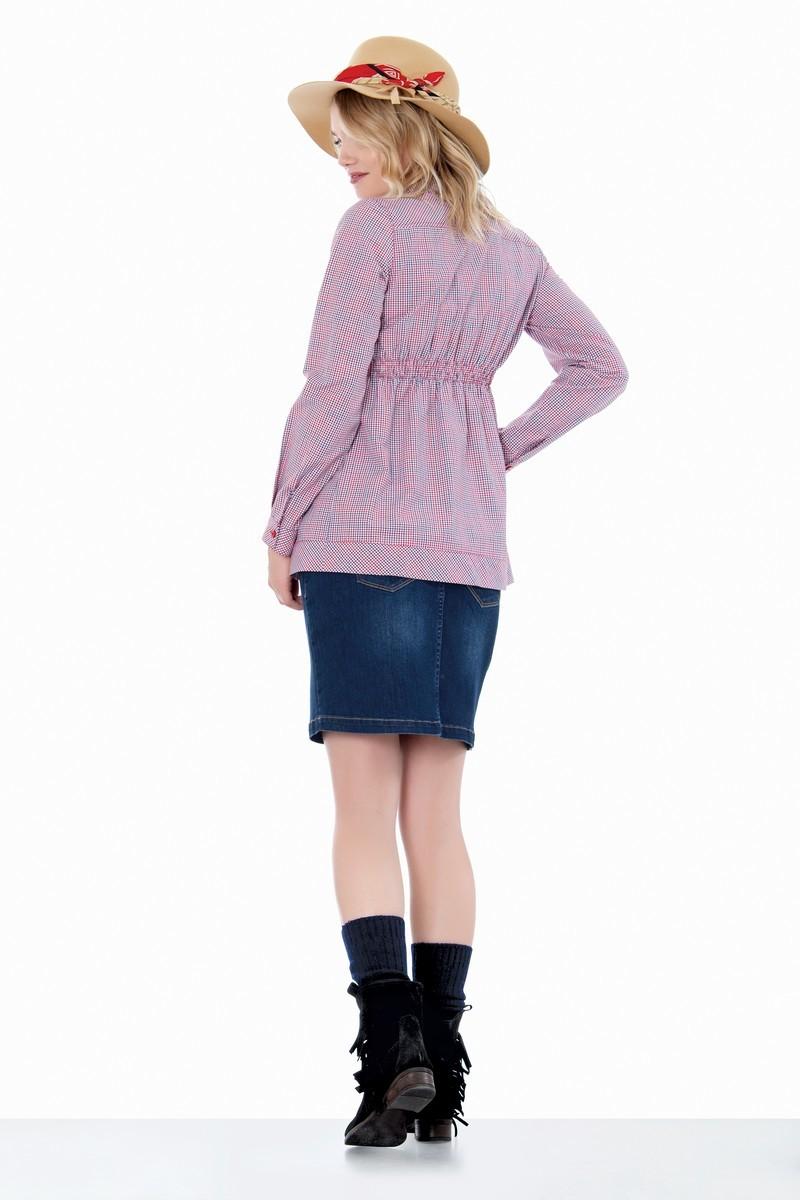 Рубашка для беременных 01418 клетка