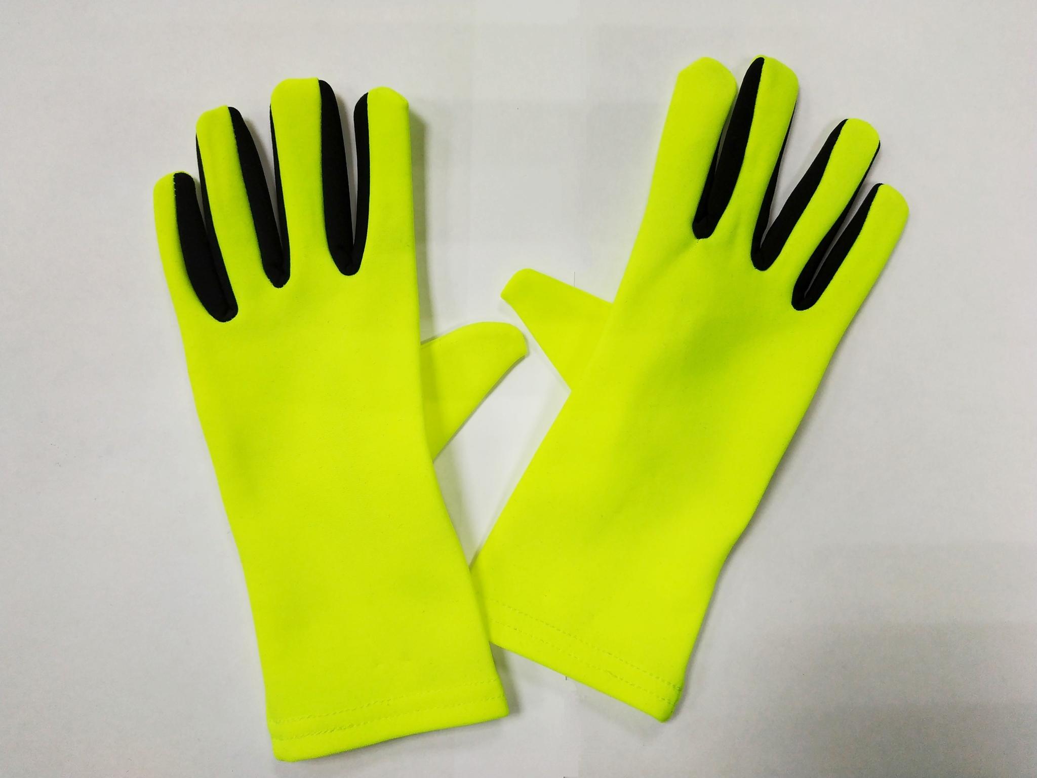 Перчатки из термоткани (жёлтые с чёрной вставкой)