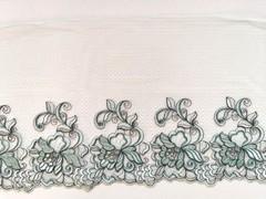 Вышивка на сетке, ЛЕВАЯ, 23 см, светло-зеленый, м