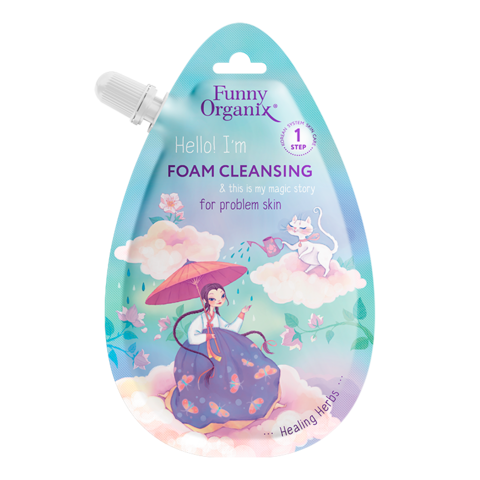 Funny Organix Secret Snail & Healing Herbs Пенка для умывания для проблемной кожи 20 мл