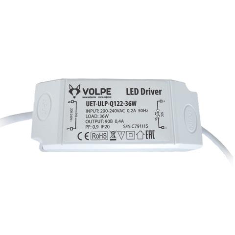 UET-ULP-Q122-36W Блок питания для светодиодного светильника ULP-Q122 6060-36W ТМ Volpe.