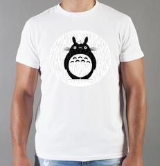 Футболка с принтом Мой сосед Тоторо (Totoro) белая 006