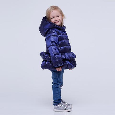Однотонная демисезонная детская куртка синего цвета