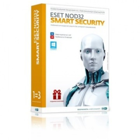 Программное обеспечение ESET NOD32 Smart Security+Bonus (3ПК/1г)NOD32-ESS-1