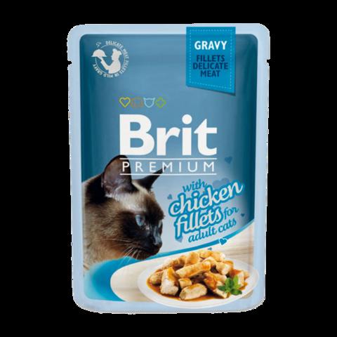 Brit Premium Cat Консервы для кошек куриное филе в соусе (пауч)