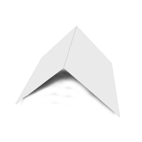 Планка конька плоского 150х150х2000 мм RAL 9003