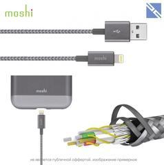 Кабель Moshi Integra lightning to USB-A повышенной прочности кевлар 1,2м серый