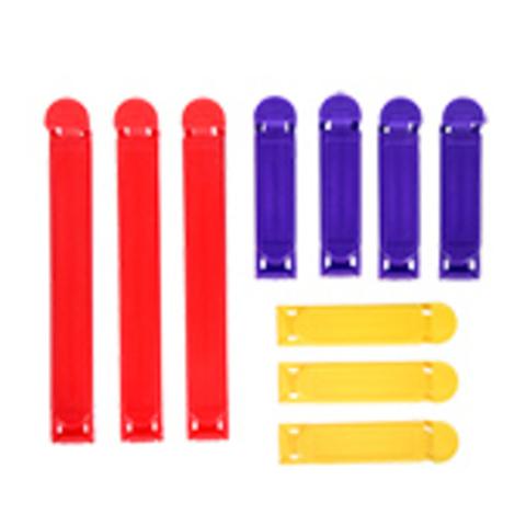 Зажимы для пакетов «Классика» 10 шт 12 см и 6,5 см