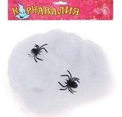 Паутина белая  2 паука 16*20