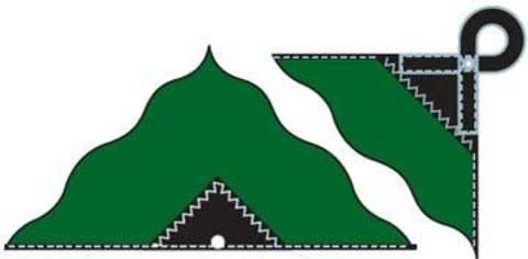 Картинка тент Alexika AWNING 4M X 3,2M green