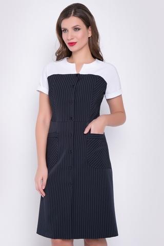 <p>Универсальное платье для леди с любой комплекцией. Отличное решение для деловых встреч. Модель отрезная по линии талии и застежкой по переду на пуговицы. Рукав реглан с манжетом. Функциональные карманы. (Пояс в стоимость не входит).Длина изделия - 100см.(все размеры)</p>