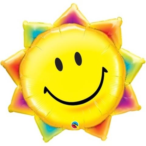 Фольгированный шар Солнышко улыбка