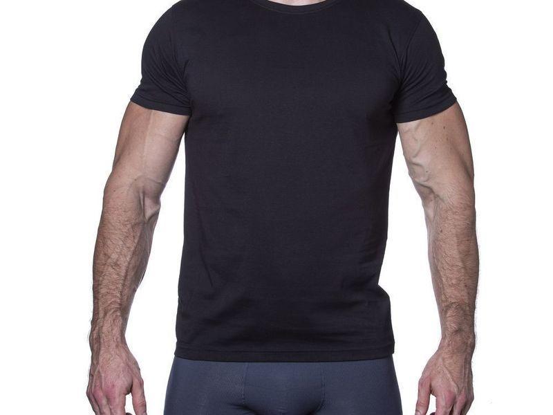 Мужская футболка черная Sergio Dallini SDT750-2
