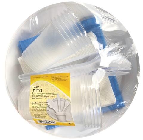 Набор одноразовой посуды (пластик), 6 персон