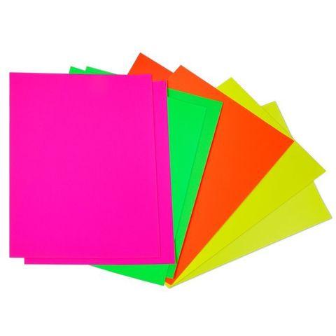 Бумага цветная Каляка-Маляка самоклеящаяся, флуоресцентная (8 л., 4 цв., A4 (194*285)) в папке, БФСКМ08