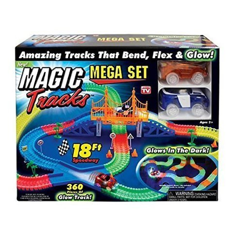 Magic Tracks  - Большая гибкая гоночная трасса + Мост - 360 деталей