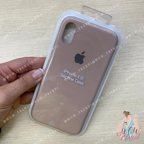 Чехол iPhone X/XS Silicone Slim Case /pink sand/