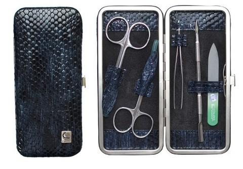 Маникюрный набор СТАЛЕКС НМ-04/2 «Рамка», 5 предметов. Натуральная кожа, ручная заточка. Цвет № 58