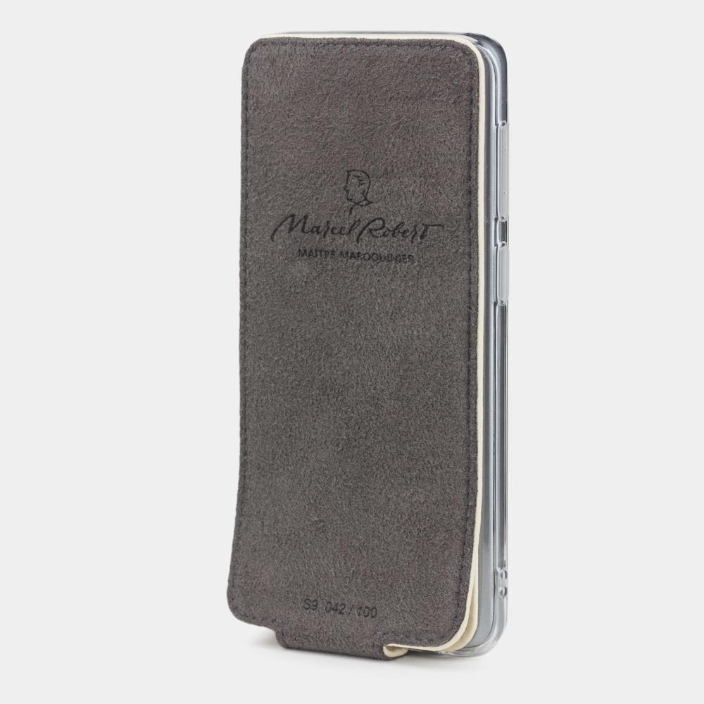 Чехол для Samsung Galaxy S9 Plus из натуральной кожи теленка, молочного цвета