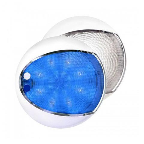 Светильник интерьерный светодиодный, Ø130 мм, белый / синий свет