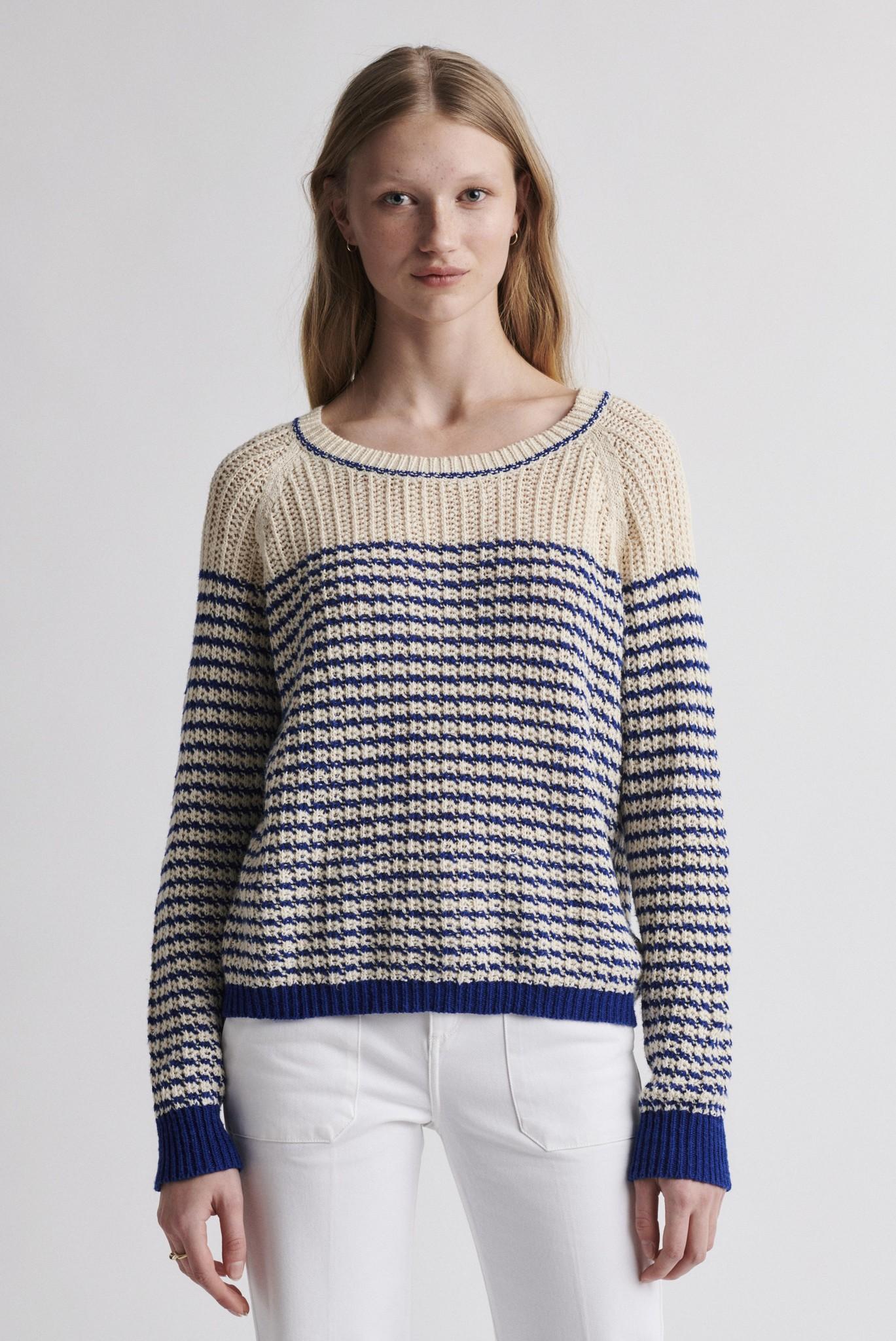 ELVEZIA - Вязаный полосатый пуловер