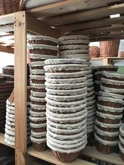 Корзинка для расстойки теста из ивы, 34х14 см